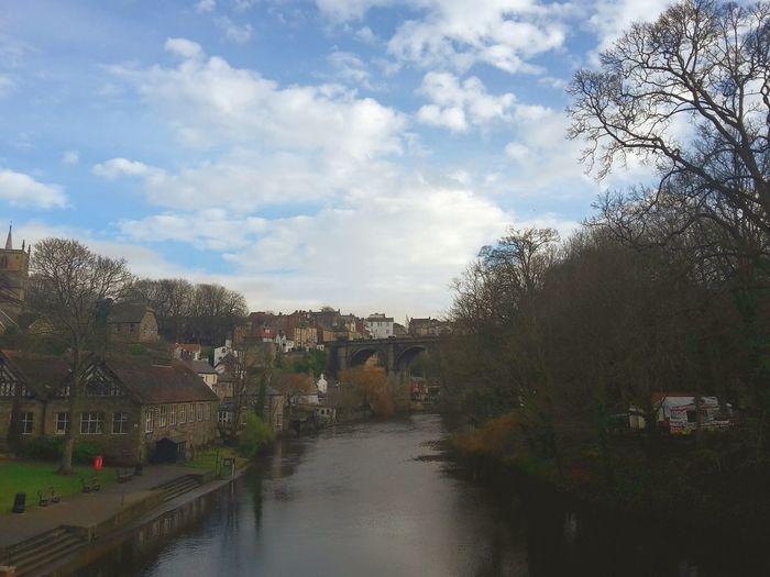 Knaresborough Viaduct River Beautiful Sky Clouds And Sky