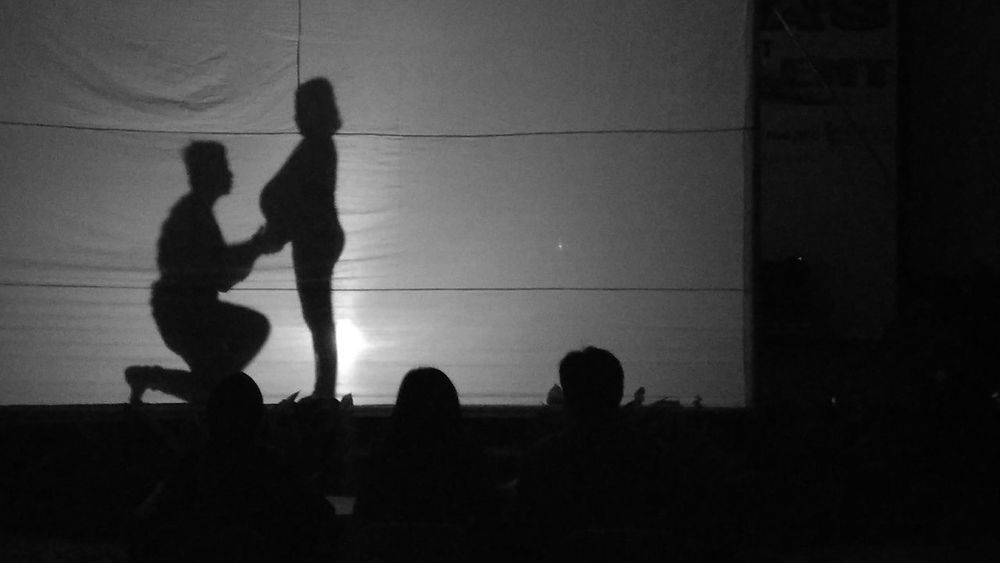 Silhouette Black And White Indoors  Silhouette Two People People Togetherness Adults Only Adult Outdoors Day