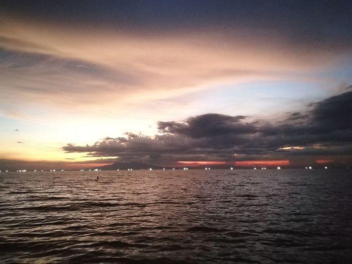 Beach sunset 🌅 Water Sea Sunset Beach Nautical Vessel Flamingo Sky Landscape Horizon Over Water Cloud - Sky Seascape Tide Calm Dramatic Sky