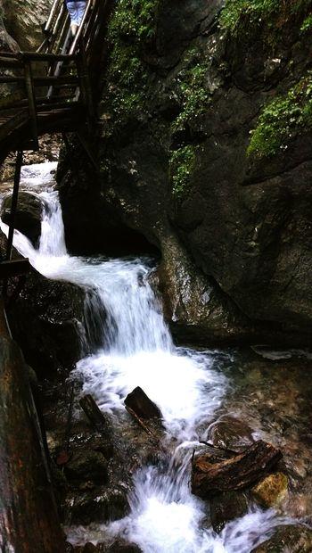 Waterfall Water Woodwalking Austria