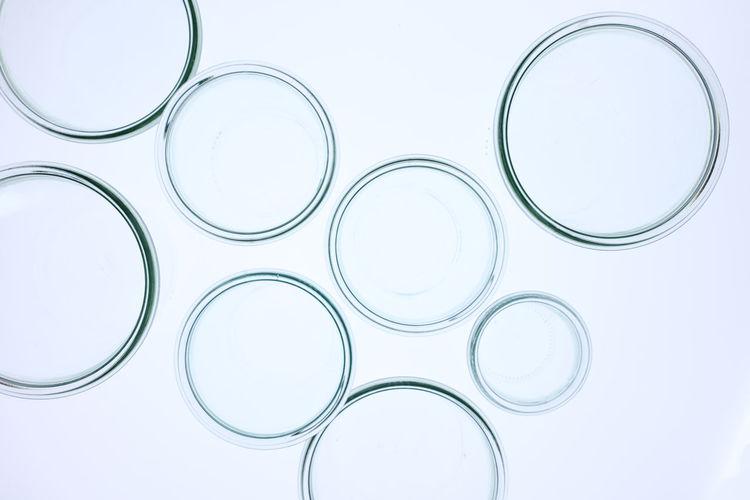Full frame shot of glass over white background