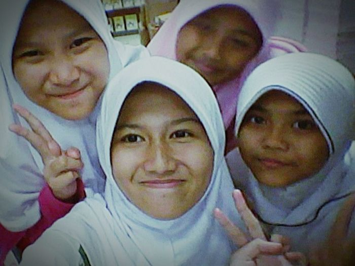 With my friend's..