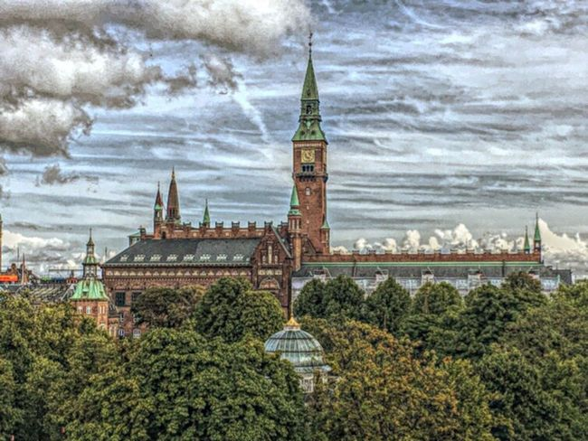 Denmark 🇩🇰🇩🇰🇩🇰 Copenhagen View From Above View Of The Town View From The Top Architecture Cloud - Sky Tree Clock Tower Travel Destinations Sky Day Building Exterior Built Structure No People Outdoors City Clock Cityscape Nature Wonderful Copenhagen Week On Eyeem HDR Effect EyeEm Gallery