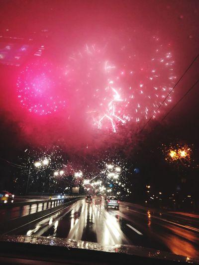 Fireworks over