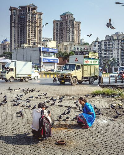 Mumbai, India. Mumbai Bombay India Powai Powai Lake Photo ASIA People Street Streetphotography Travel Travel Photography Pigeons Birds