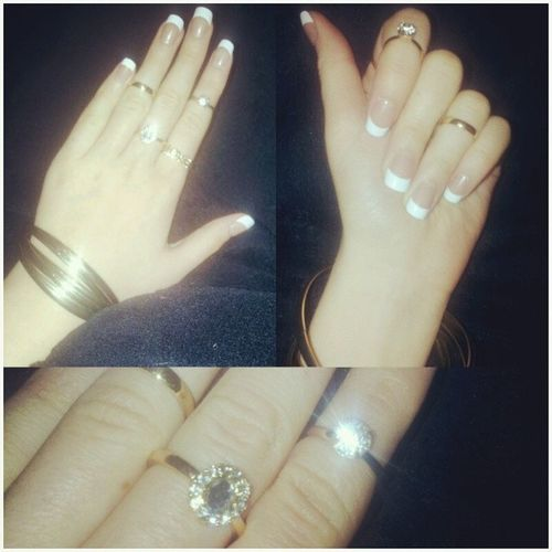 New Nails Nailsfashion Rings uperdownlookalwaysathandsgoldenringshinegoodshoulddomorepicsfridaynightkisses