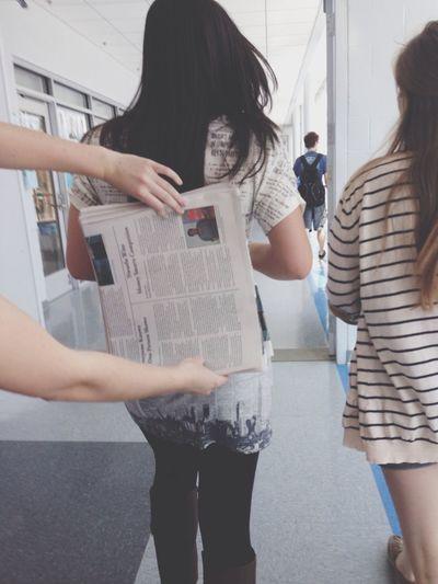Paper on paper on paper Camoflauge Blendingin