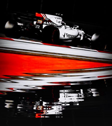 Formula One reflections, Lance Stroll Williams Martini Racing Highspeed Motorsport Formula 1 Sports Photography Relections Speed Blurred Motion Motion Red Transportation Close-up Outdoors