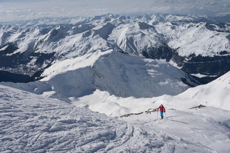 Skitouring near davos