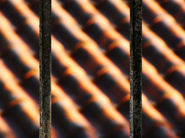 Full frame shot of rusty metal fence