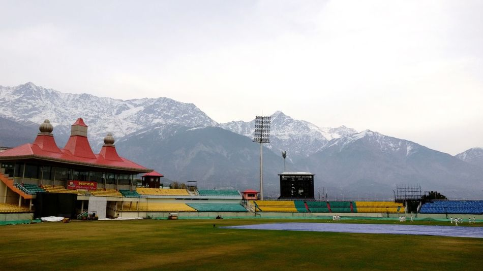Serene beauty ♥️ Himachalpradesh EyeEmNewHere EyeEmbestshots EyeEm Stadium Cricketstadium Beautiful Colour Of Life EyeEm Selects Mountain Snow Mountain Range Outdoors Architecture No People Day