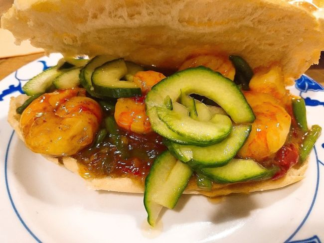 Bocadillo Gambas y Kouseband Healthy Eating Food Photography Foodspotting Lunch Time! Foodpictures