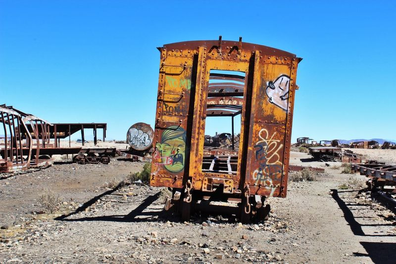 View of abandoned truck