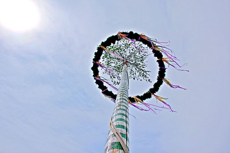 Sky No People Outdoors Tall - High Fairground Geometric Shape Arts Culture And Entertainment Windy Day Low Angle View Maypole Celebration Tradition