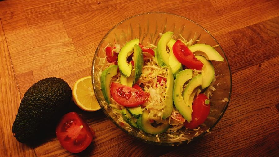 My superfood salat Superfood Salad Nocooking Foryourhealth Energyfood Cabbage Avacado Tomatoes