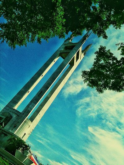 Quezon City Memorial Monument Low Angle View Tree Architecture Day No People Built Structure Outdoors Sky Colour Your Horizn
