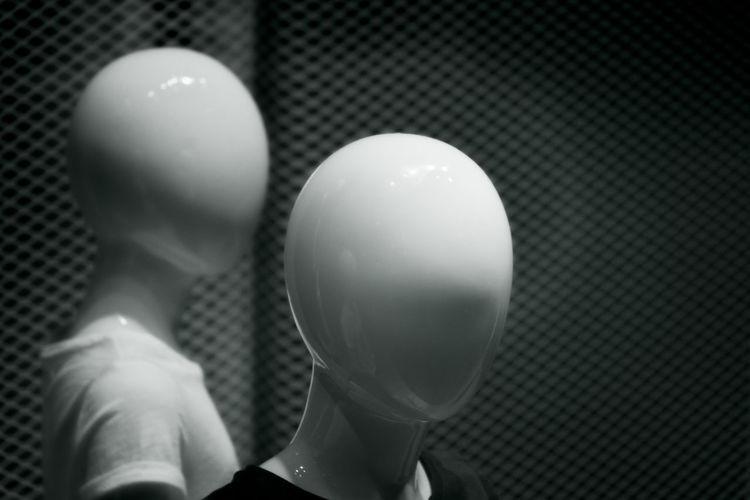 manequins - dummies Close-up Dummy Heads Headshot Human Form Illuminated Indoors  Manequin Portrait Tailor's Dummy