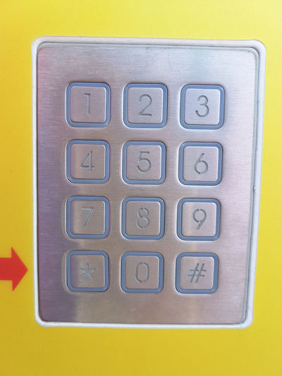 Numpad of automat Numpad Code Security Passcode EyeEm Selects Aluminum Alloy