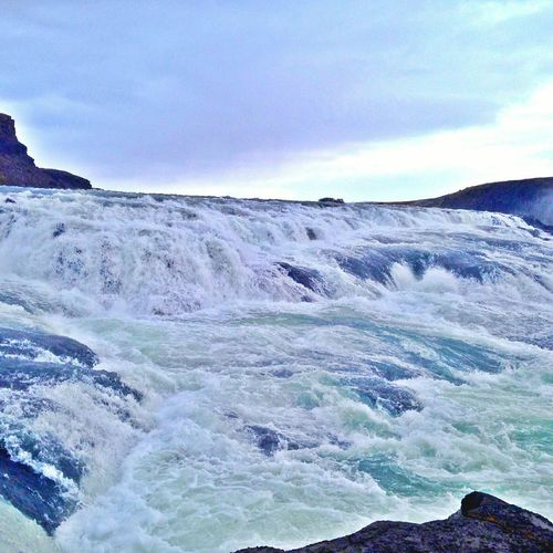 Life's been flowing like a waterfall since that day... Iceland Beauty In Nature Landscape Nature Waterfall Gullfoss Wanderlust. Travel Traveling Travel Photography Travelblogger Travelblog Writersofinstagram Writergram Bluesjeans