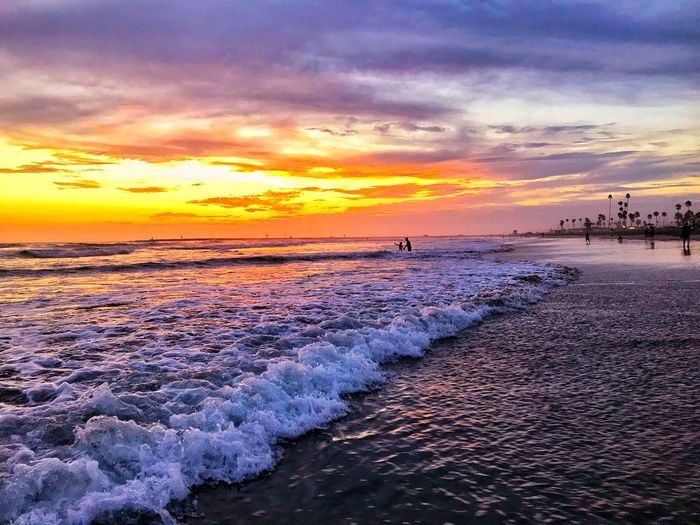 Sunset Sea Beach Water Beauty In Nature Sky Shore Scenics Nature Horizon Over Water Cloud - Sky Sand Orange Color Tranquil Scene Tranquility Wave Outdoors Vacations Sun No People Be. Ready. Beachphotography Dramatic Sky Travel Destination EyeEmNewHere