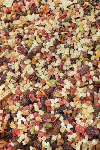 High angle view of autumn leaves on ground