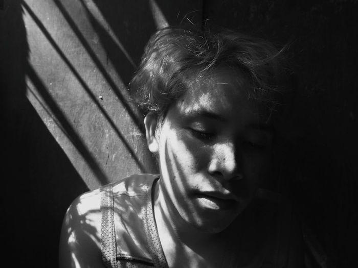 The Portraitist - 2018 EyeEm Awards Eyeem Philippines Portrait Futuristic Shadow Beautiful Woman Headshot Blank Expression Close-up Thoughtful Thinking Head And Shoulders
