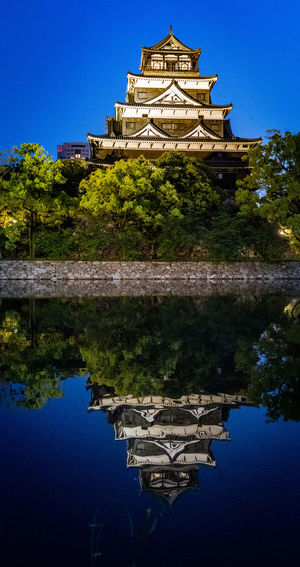 Built Structure Water Reflection Building Exterior Architecture Lake Sky Waterfront Religion Nature Belief Building No People Blue Tree Clear Sky The Past Plant Spirituality Outdoors