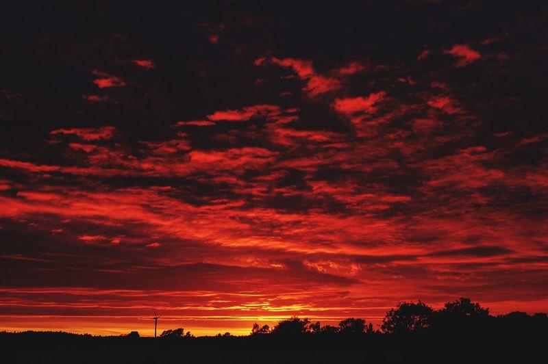 Skaraborg Sweden Clouds And Sky Sunset Landscape Nature Clouds Skyporn