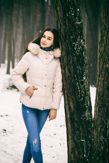 Adult Beauty Beauty In Nature Cold Fashion Forest Model One Person Outdoors People Photo Photography Photoshoot Portrait Snow Vilnius White Winter Women Young Adult