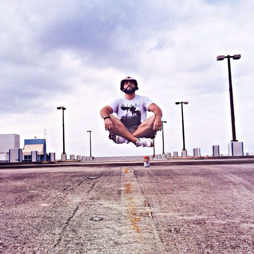 Practicing my levitation on a lunch break as I enjoy a nice cold Coke-Cola Levitation Miami Vscocam