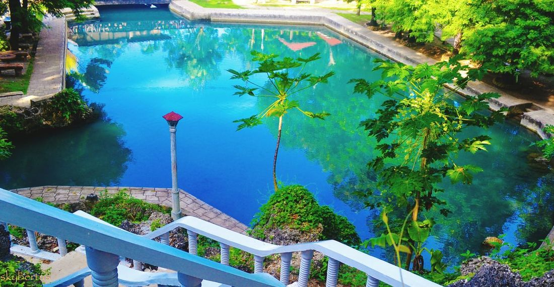 Water Reflection High Angle View Outdoors Swimming Pool Tree Nature Plant Lake Day No People Blue Landscape Scenics Flood Beauty In Nature