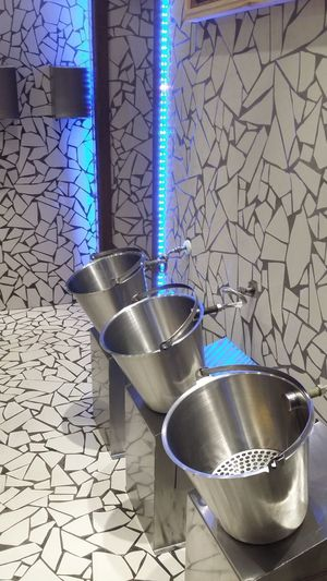unique toilet Men Toilet Restroom Blue Neon Bowl Close-up Food And Drink Stainless Steel  Aluminum Alloy