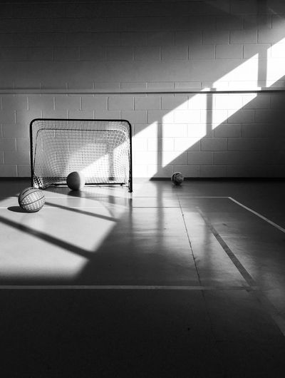 bw gym Black And White Shadow Sport No People Architecture Day Built Structure Wall - Building Feature Sunlight Net - Sports Equipment Absence Flooring Copy Space Empty Focus On Shadow