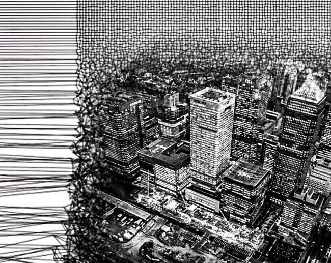 City Déchiré... Suspendit Animation Photographic Approximation Nothing Is Holly It Never Is What It Is