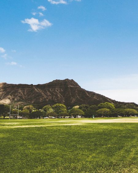 Diamond head from honolulu