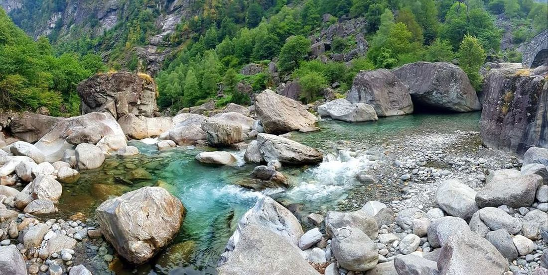 Silence Just Nature Nature Cyan Turquoise Water Swisstravel Maggia Valley Maggiatal Tessin Maggiavalley Handycam Samsungs7edge Water Beach Rock - Object Tree Sky Landscape Rock Formation Rock