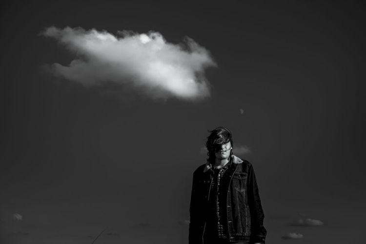 Man standing against sky