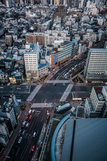 Aerial View Architecture Building Exterior Built Structure Car City City Life Cityscape Crowded High Angle View Land Vehicle Mode Of Transport Modern Office Building Road Skyscraper Street Tall - High Tokyo Tower Transportation