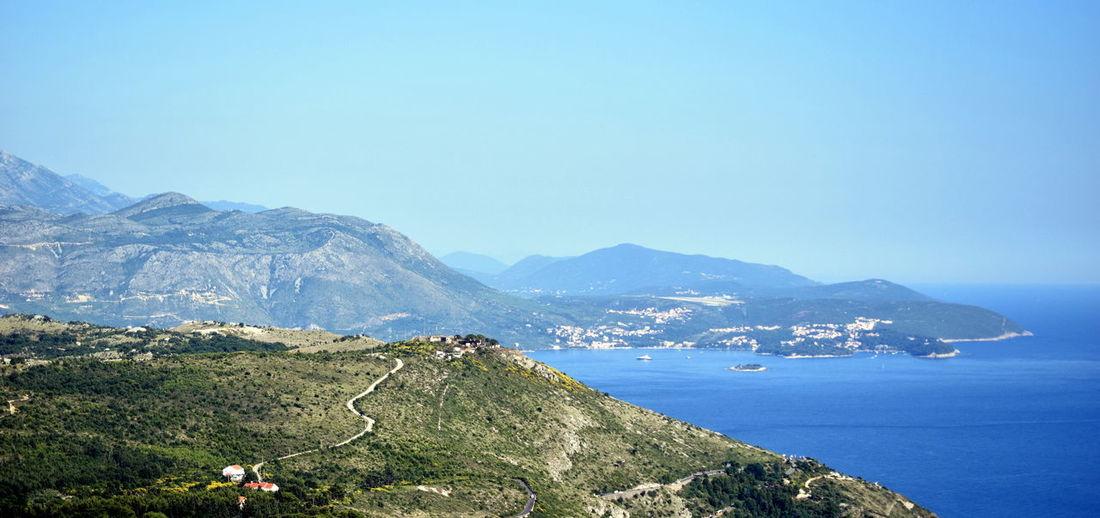 Blue Coastline Day Hill Landscape Mountain Ocean Outdoors Scenics Sky Water