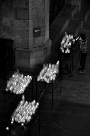 Black & White Black And White Black And White Photography Bianco&nero Barcelona People Person Tranquility Church Candl Black And White Friday