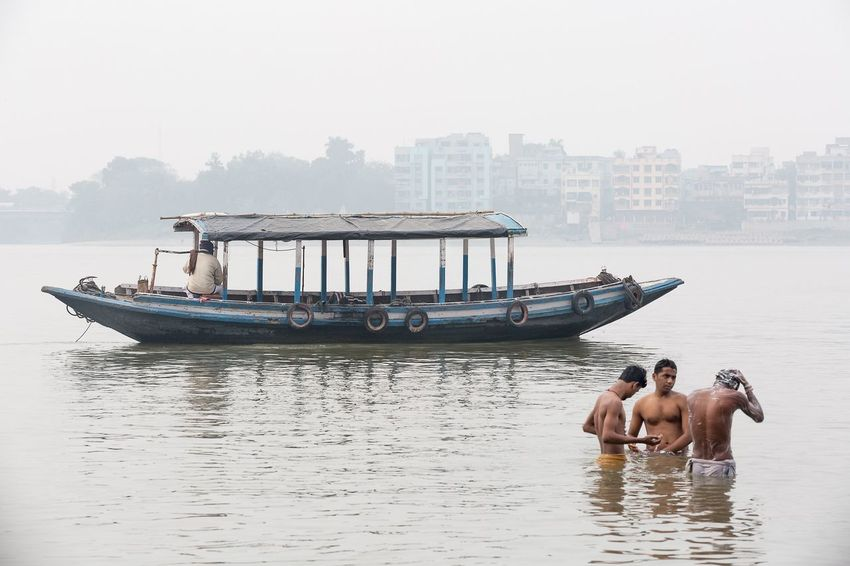 The Hooghly river in Kolkata West Bengal India. India Kolkata People Streetphotography Storytelling Documentary Travel Water Nautical Vessel Nature Day Waterfront Real People River