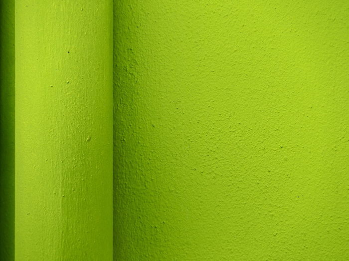 Detail shot of green wall