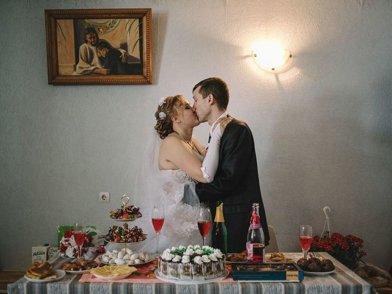 Mihai's, lifer from penitentiary nr 17, got married inside the prison with the women that he found by mail. Rezina, Republic of Moldova. Celebration Wedding Togetherness Two People Bride Kissing Love Documentaryphotography Documentary Photography