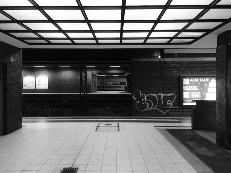 NOV Nov Graffiti Berlin NYC Blackandwhite Architecture Transportation Indoors  No People Built Structure Illuminated Night City
