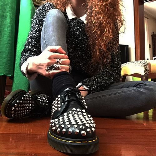 Outfit Roma Italy Drmartens Rome Drmartens Jeans Shirt Curlyhair Redhead Xmas Gift Relax Taking Photos Pic Pictures Loveit Loveshoes Shoes