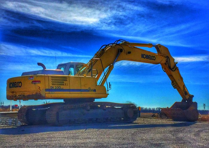 Digging that it's a three day weekend 😄 Construction Machinery No People Machinery Outdoors