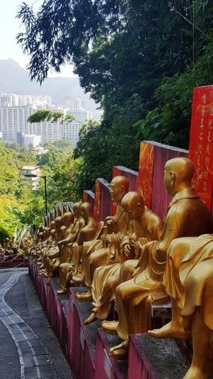 10000 Buddhas Buddhas Buddha Statue HongKong Hong Kong Travel Destinations Travel Traveling Reisefotografie Reiselust Reisen Ist Meine Medizin Pupparazzi Travelphotography China Mönch Monks Monk  Skyscraper Aussicht View EyeEm Eyeemphotography Ausflug  Day No People Water Outdoors Sea Arrangement Nature