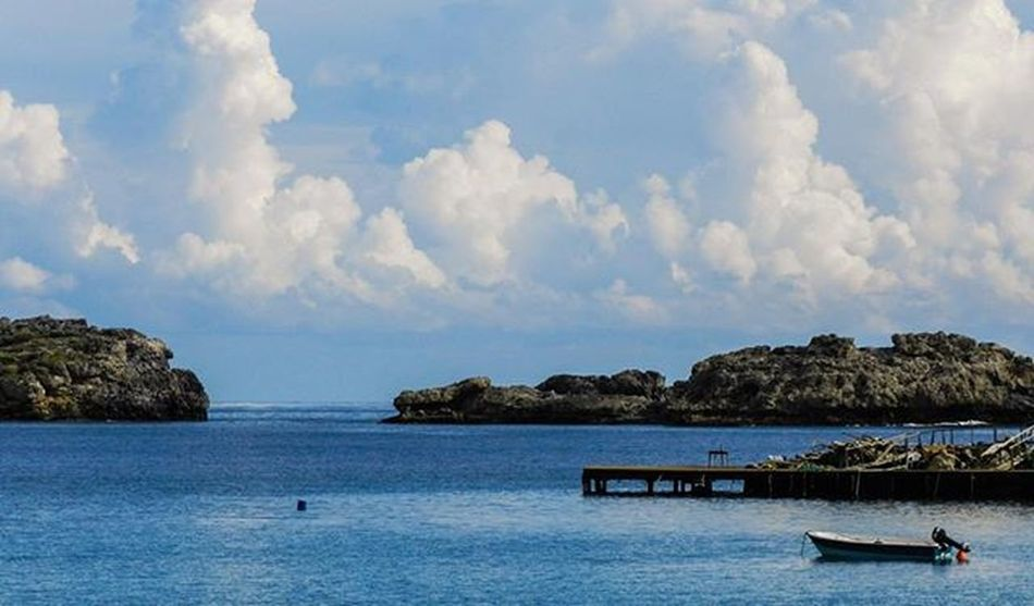 Rhodos Lindos Beach Boat Clouds ❤️