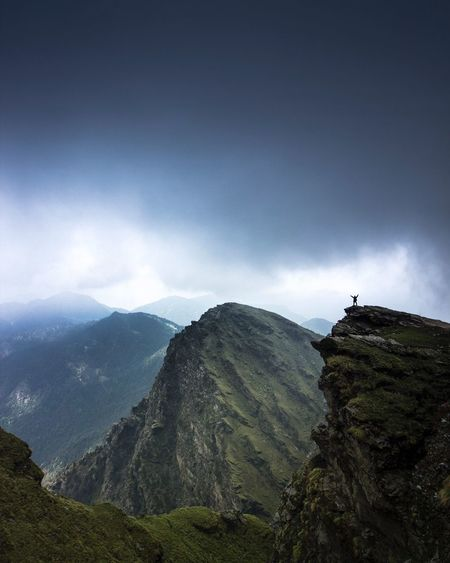 Scenic View Of Himalayas Against Cloudy Sky