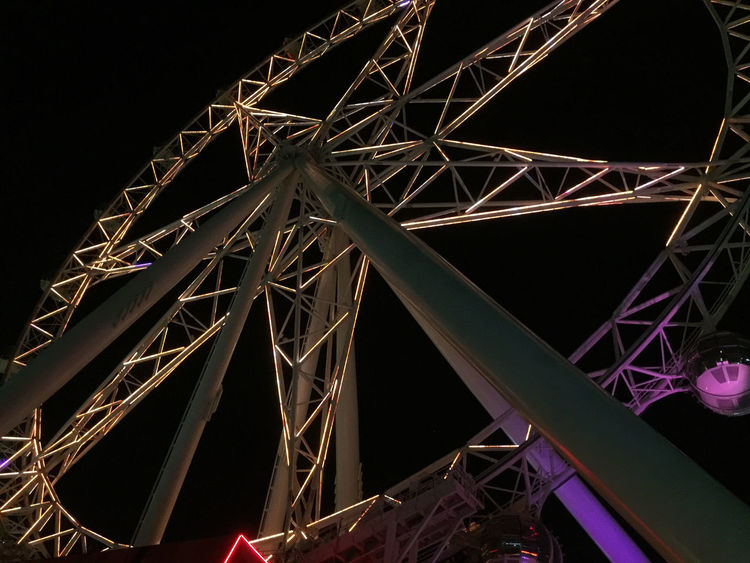 Melbourne Star at night at Docklands, Melbourne Australia Built Structure City Lights Low Angle View Melbourne Melbourne Star Night No People Observation Wheel Outdoors Sky Technology Tourism Travel Travel Destinations Victoria Working Holiday